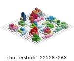 infographic isometric vector... | Shutterstock .eps vector #225287263