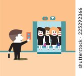 businessman outside ladies... | Shutterstock .eps vector #225292366