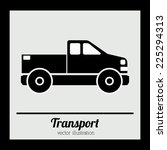 transport design over black... | Shutterstock .eps vector #225294313