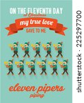 eleventh day of the twelve days ... | Shutterstock .eps vector #225297700