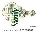 vector concept or conceptual... | Shutterstock .eps vector #225298189
