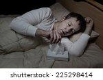 horizontal image of sick mature ...   Shutterstock . vector #225298414