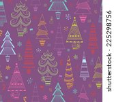 christmas seamless background... | Shutterstock .eps vector #225298756