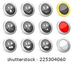 3d icons emoticons on white... | Shutterstock . vector #225304060
