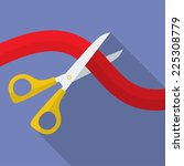 icon of scissors cutting the... | Shutterstock .eps vector #225308779