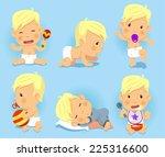 baby toddler set  vector... | Shutterstock .eps vector #225316600