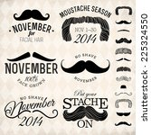 vector collection of moustache... | Shutterstock .eps vector #225324550