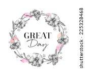 hand drawn floral frames  ... | Shutterstock . vector #225328468