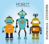 robot design over blue... | Shutterstock .eps vector #225328486
