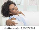 a beautiful mixed race african... | Shutterstock . vector #225329944