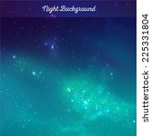 vector night sky background | Shutterstock .eps vector #225331804