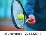 tennis racket and ball | Shutterstock . vector #225332344