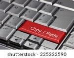 computer key   copy   paste   Shutterstock . vector #225332590