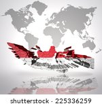 map of indonesia with...   Shutterstock . vector #225336259