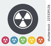 radioactivity. single flat icon ...   Shutterstock . vector #225339136