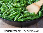cooked green beans with sesame... | Shutterstock . vector #225346960