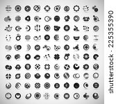 unusual icons set   isolated on ... | Shutterstock .eps vector #225355390