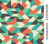 vintage pattern with colorful... | Shutterstock .eps vector #225356200