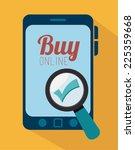 shopping design over yellow... | Shutterstock .eps vector #225359668