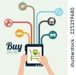 shopping design over white... | Shutterstock .eps vector #225359680