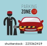 parking design over blue...   Shutterstock .eps vector #225362419