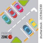 parking design over gray... | Shutterstock .eps vector #225362530