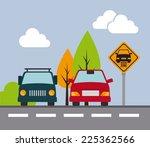 parking design over landscape... | Shutterstock .eps vector #225362566