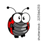 red and black spotted smiling...   Shutterstock . vector #225366253