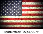 the usa flag painted on grunge... | Shutterstock . vector #225370879