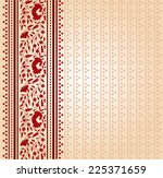 traditional red and cream... | Shutterstock .eps vector #225371659