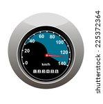 car speedometer showing someone ... | Shutterstock . vector #225372364