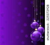 violet colors christmas and new ... | Shutterstock . vector #225372928