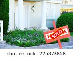 sold home for sale real estate... | Shutterstock . vector #225376858