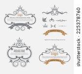 vector set  calligraphic design ...   Shutterstock .eps vector #225378760