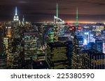 new york city skyline with... | Shutterstock . vector #225380590
