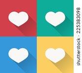 heart icon   flat design on 4...