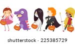 illustration featuring kids... | Shutterstock .eps vector #225385729