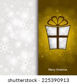 christmas background. vector... | Shutterstock .eps vector #225390913