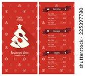 special christmas festive menu... | Shutterstock .eps vector #225397780