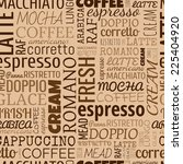 coffee words  tags. seamless... | Shutterstock .eps vector #225404920