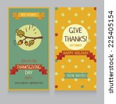thanksgiving card template ... | Shutterstock .eps vector #225405154