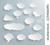 clouds set on the grey... | Shutterstock .eps vector #225406090