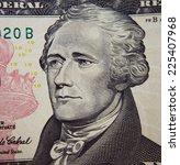 Small photo of Alexander Hamilton portrait from ten dollar bill