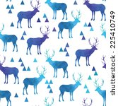 Seamless Pattern With Deer....
