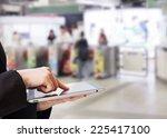 businesswoman using digital... | Shutterstock . vector #225417100