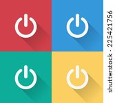 start icon   flat design on 4... | Shutterstock .eps vector #225421756