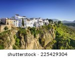 Ronda  Spain Buildings On The...