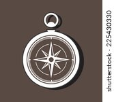 silhouette of a compass on dark ...   Shutterstock .eps vector #225430330