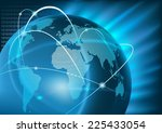 internet global business  ... | Shutterstock . vector #225433054