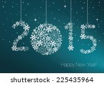 happy new year 2015 greeting... | Shutterstock .eps vector #225435964